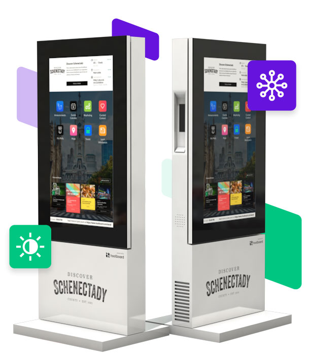 outdoor touch screen kiosks